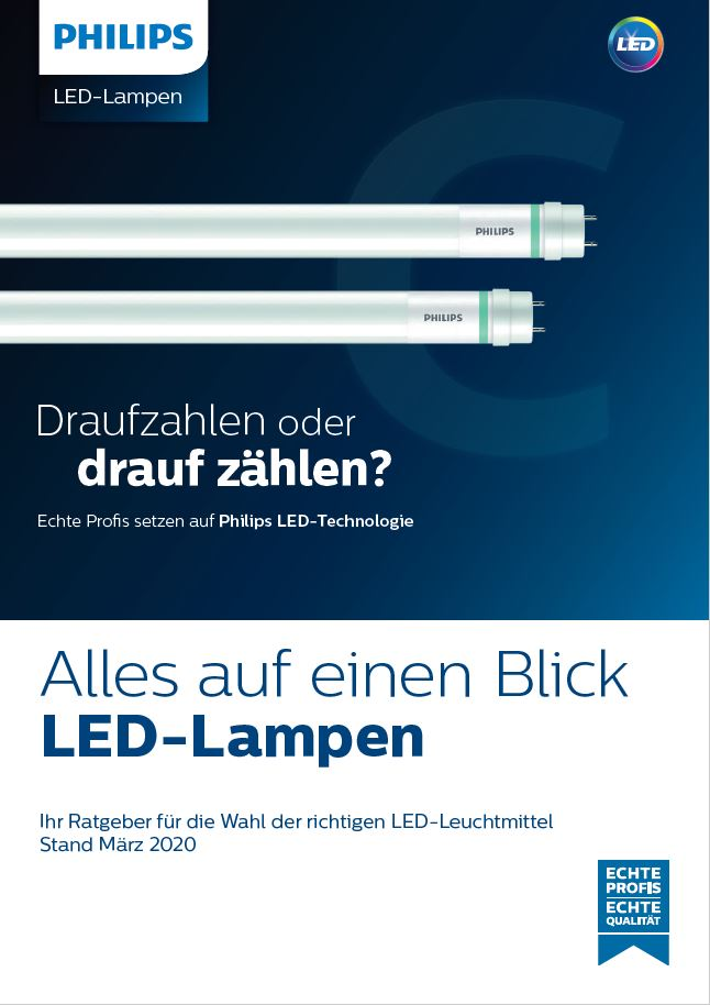 PHILIPS LED Lampen Stand März 2020